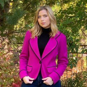 ST. JOHN • Women's Wool Knit Fuchsia Blazer sz 12